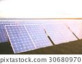 3D illustration solar power generation technology 30680970