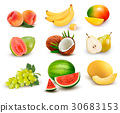 Collection of fruit and berries.  30683153