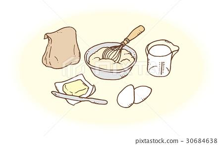 핫 케이크 만들기 준비 30684638