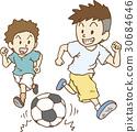축구를하고 노는 아이들 30684646