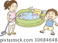 playing in water, summer, water pistol 30684648
