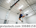 Basketball Bounce Exercise Sport Stadium Play Concept 30686158