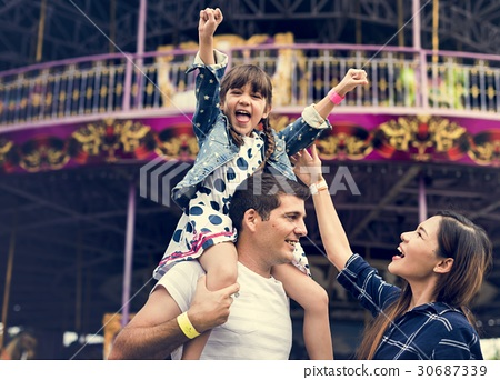 Family Holiday Vacation Amusement Park Togetherness 30687339