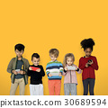 children playing technology 30689594