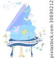 钢琴 鸟儿 鸟 30690212