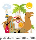 hookah, man, arab 30690906
