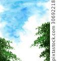 푸른 하늘과 나무 30692218