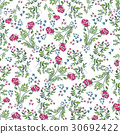 Floral Seamless Pattern. Hand Drawn  30692422