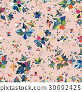 Floral Seamless Pattern. Hand Drawn 30692425