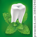white tooth and whitening toothpaste with mint 30692940