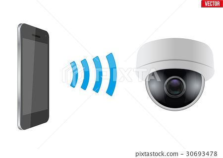 Wireless Controlling CCTV security camera 30693478
