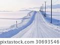 snowy road, hokkaido, furano 30693546