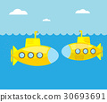 submarine,yellow,vector 30693691