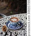 Fresh tasty coffee cups 30693700
