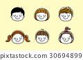 孩子的表情:快樂,放鬆 30694899