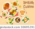 british, cuisine, vector 30695291