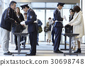 luggage inspection, admission gate, an entrance 30698748