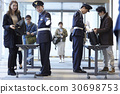 luggage, luggage inspection, admission gate 30698753