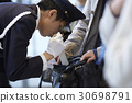 luggage inspection, security guard, guard man 30698791