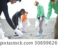 Senior volunteers and surfers to clean the beach 30699626