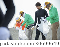 Senior volunteers and surfers to clean the beach 30699649