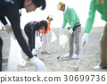 Senior volunteers and surfers to clean the beach 30699736