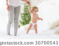 Pretty infant learning to walk 30700543