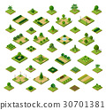 Set of isometric urban parks 30701381