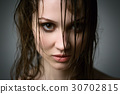 woman with wet hair 30702815