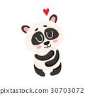 panda, vector, cute 30703072