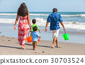 Mother Father Parents Boy Children Family on Beach 30703524
