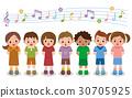 chorus, song, kid 30705925