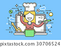 Vector illustration chef cook nutritionist 30706524