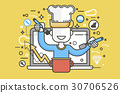 Vector illustration chef cook nutritionist 30706526
