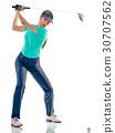 高尔夫 高尔夫球手 女人 30707562