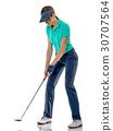 高尔夫 高尔夫球手 女人 30707564