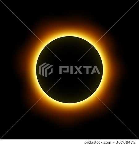 Total eclipse of the sun . Vector . 30708475