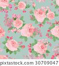 Floral garden seamless pattern. Flower background. 30709047