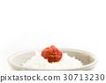 umeboshi on rice 30713230