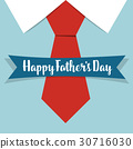 Happy fathers day card design with Big Tie. Vector Illustration 30716030