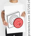 Target Dart Board Arrow Application Vector Graphic 30720514