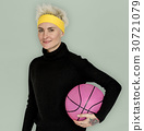 Woman Smiling Happiness Basketball Sport Portrait 30721079