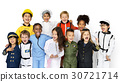Group of Diverse Kids Wearing Career Costume Studio Portrait 30721714