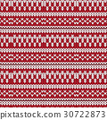red white cross shape knitted pattern background 30722873