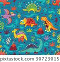 dinosaur, pattern, vector 30723015