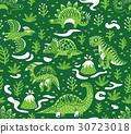 dinosaur, pattern, vector 30723018