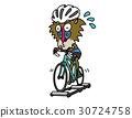 개코 원숭이가 3 개의 롤러에서 자전거 교육 30724758