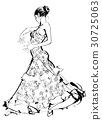 Flamenco spanish dancer woman 30725063