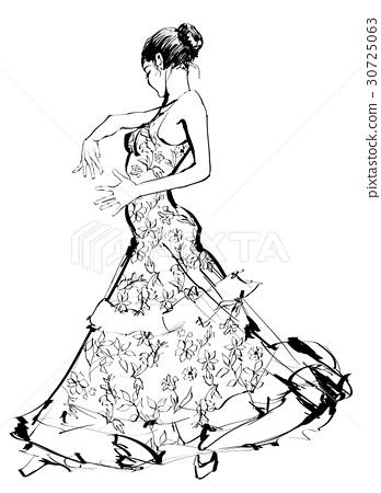 Flamenco spanish dancer woman 30725063