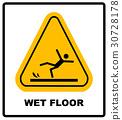 floor, wet, caution 30728178
